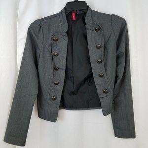 Heart Soul Gray Cropped Jacket Size Medium